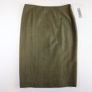 Carlisle Tweed Green Pencil Skirt Women's 6